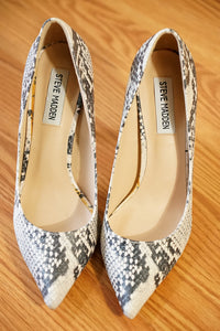 Steve Madden POET Natural Mutli High Heels (Size 6.5 Only)