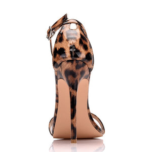 Leopard Thin High Heel Dress Sandal