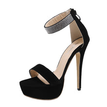Load image into Gallery viewer, Elegant Open Toe Jeweled Ankle Strap Platform Sandals