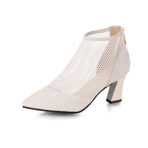Mesh High Heel Pumps