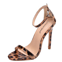 Load image into Gallery viewer, Leopard Thin High Heel Dress Sandal