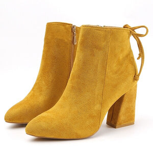 Aphixta Suede Ankle Boots