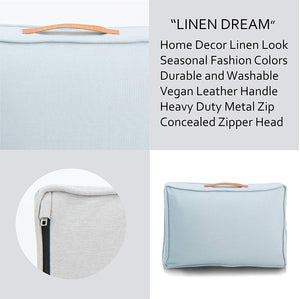 Linen Dream Dog Bed | Polar Blue | MEDIUM