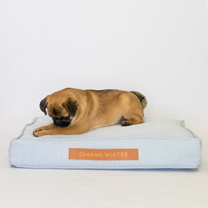 Linen Dream Dog Bed | Polar Blue | SMALL