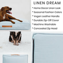 Load image into Gallery viewer, Linen Dream Dog Bed | Polar Blue | MEDIUM