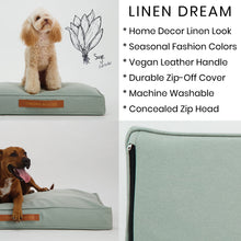 Load image into Gallery viewer, Linen Dream Dog Bed | Sage | LARGE