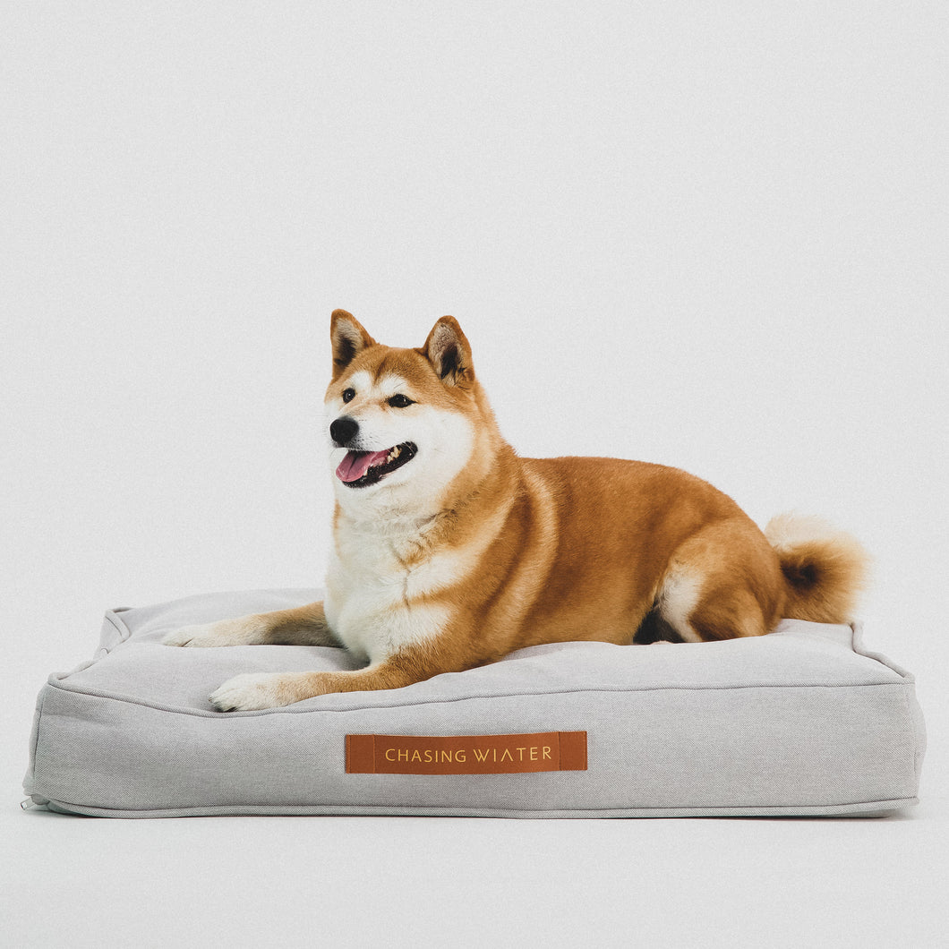 Linen Dream Dog Bed | Fog Grey | MEDIUM