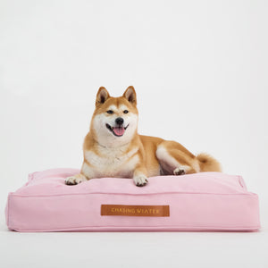 Linen Dream Dog Bed | Peony Pink | MEDIUM