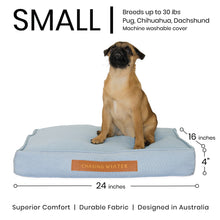 Load image into Gallery viewer, Linen Dream Dog Bed | Polar Blue | SMALL