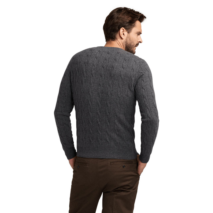 No.03 - Cashmere Cable - Darkened Grey