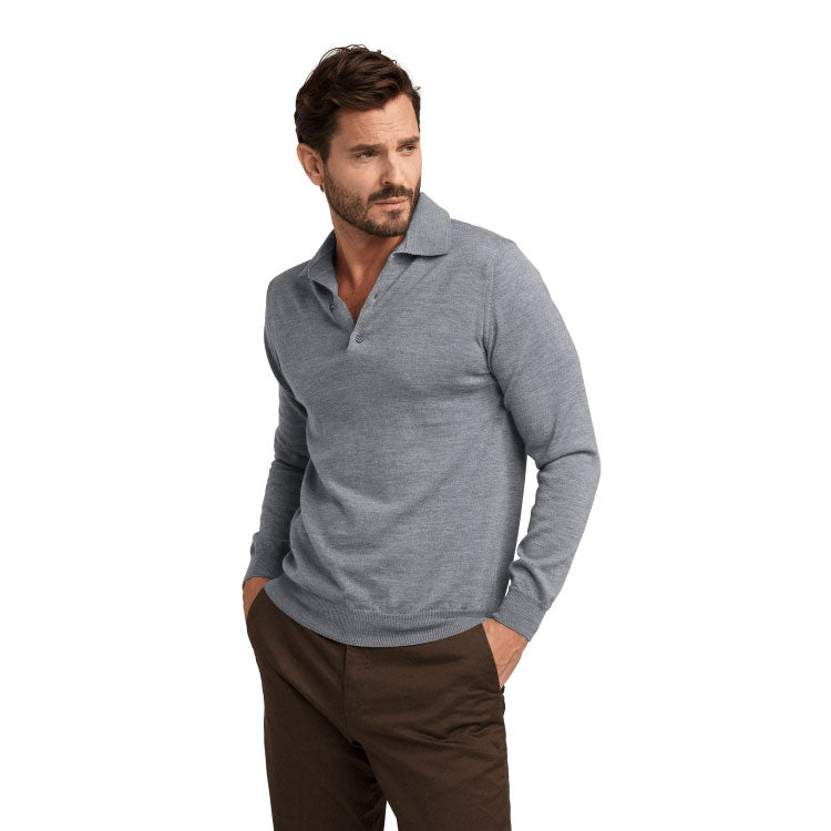 No.04 - Merino Polo - Grey-ish