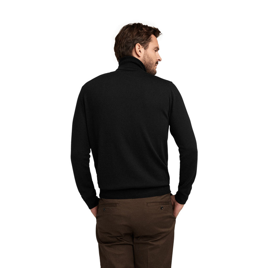 No.05 - Merino Roll Neck - Pitch Black