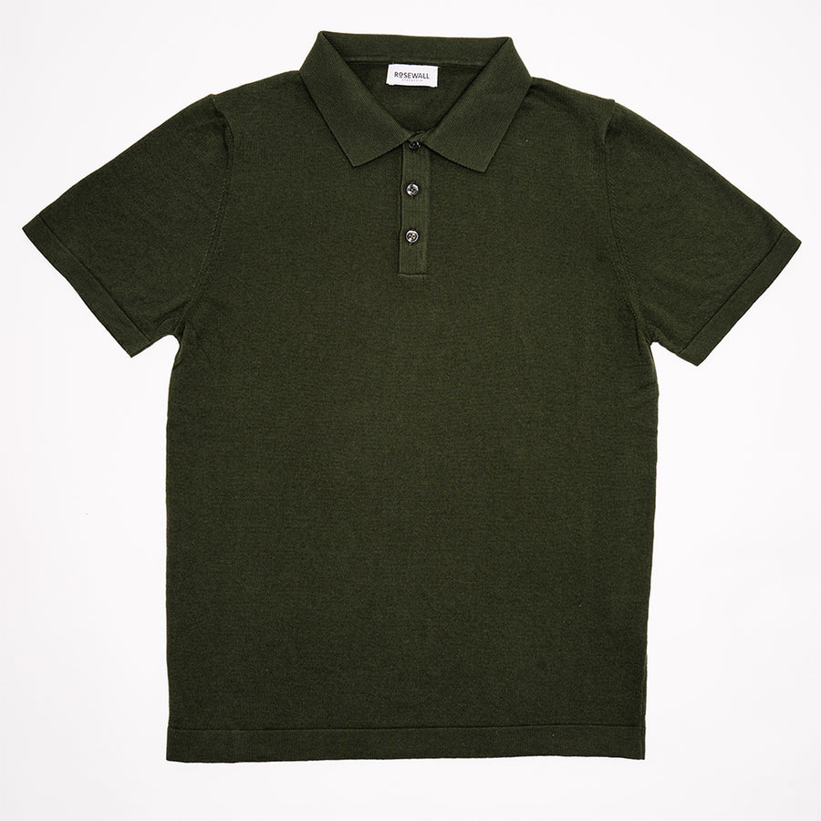 No.06 - Pima Cotton - Short Sleeve Polo - Forrest Green