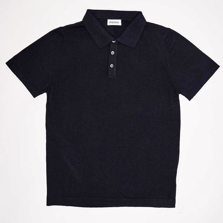 No.06 - Pima Cotton - Short Sleeve Polo - The Navy