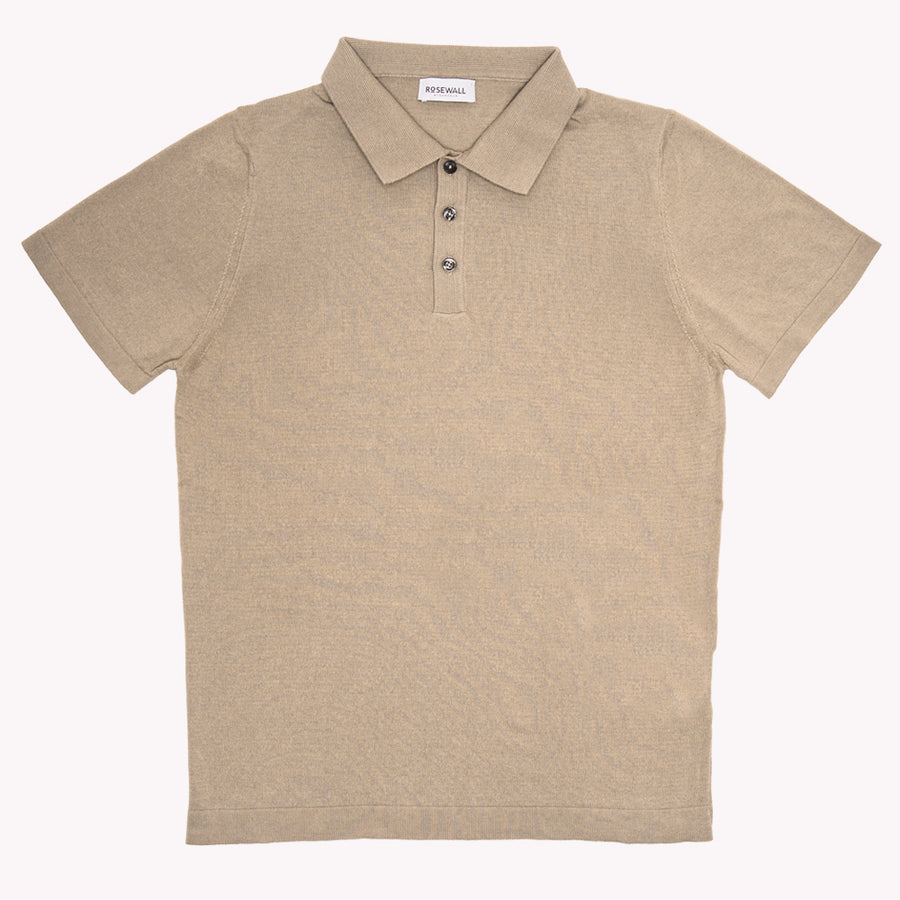 No.06 - Pima Cotton - Short Sleeve Polo - Beige