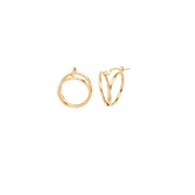 Adriana: Double Hoops, 14 KT Gelbgold