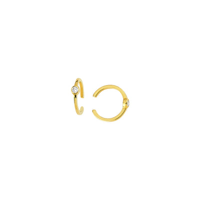 Julia: Ear Cuff, 14 KT Gelbgold, Diamant