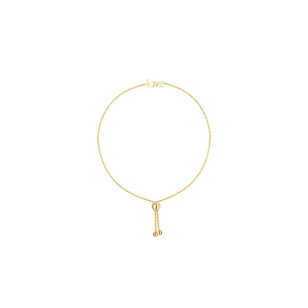 Lisi: Armband, love, 14 KT Gelbgold