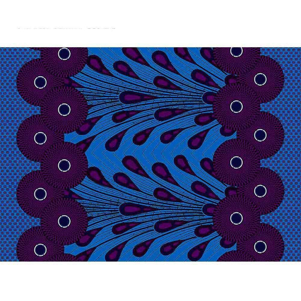 afrilace 100% COTTON AFRICAN ETHNIC PRINTING FABRIC AFRICAN WAX COTTON PRINT FABRIC(6 Yards)