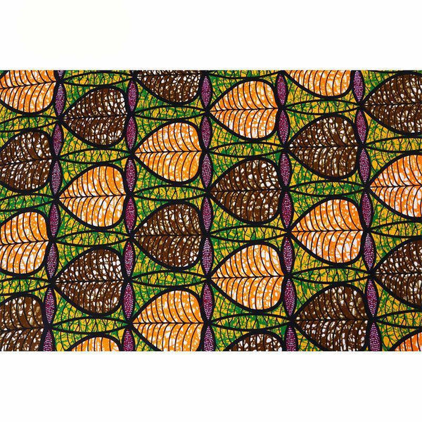 afrilace 100% COTTON AFRICAN FABRIC FOR PATCHWORK HIGH QUALITY AFRICAN PRINT FABRIC FOR DRESSES(6 Yards)