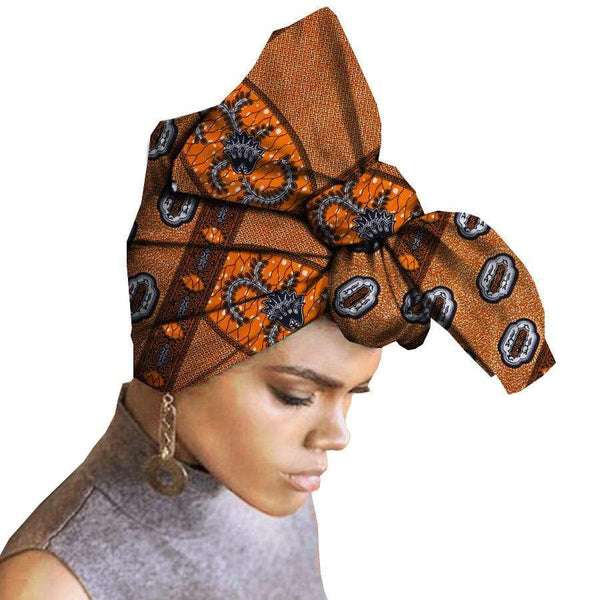 Afrilace 100% COTTON AFRICAN HEAD WRAP TRADITIONAL AFRICAN WRAP FASHION WAX PRINT HEAD WRAP