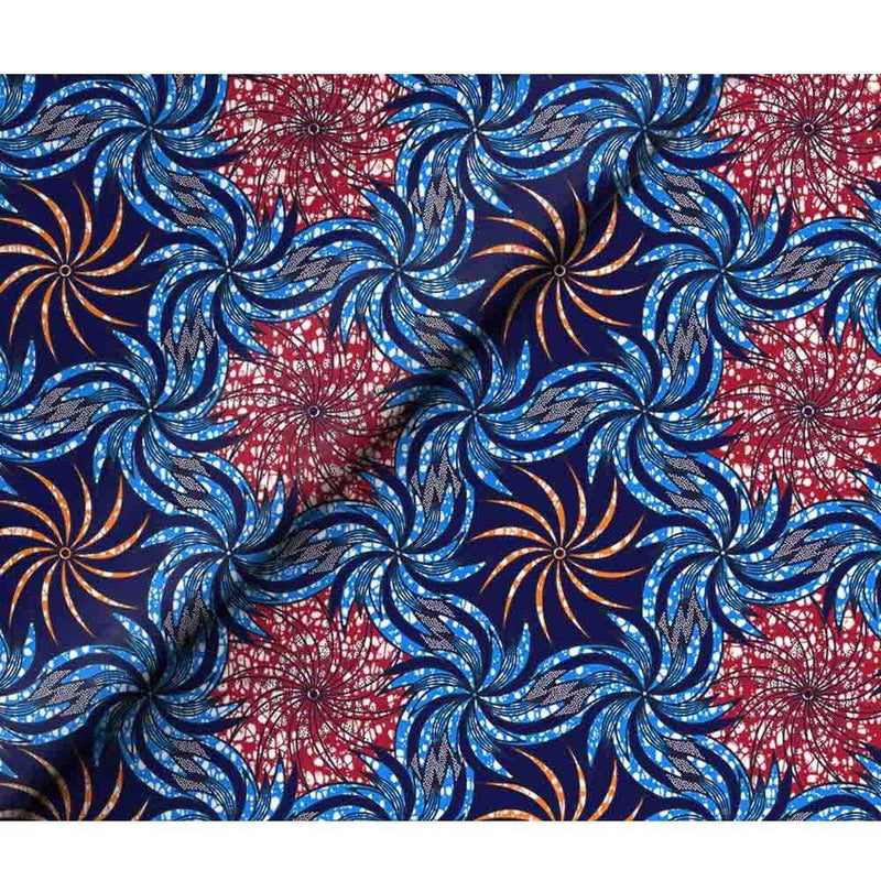 afrilace 100% COTTON BATIK AFRICAN PRINTS FABRIC FLOWER PATTERN AFRICAN PRINT FABRIC FOR WEDDING DRESS(6 Yards)