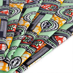 Afrilace 100% COTTON ETHNIC STYLE AFRICAN PRINT FABRIC(6 Yards)