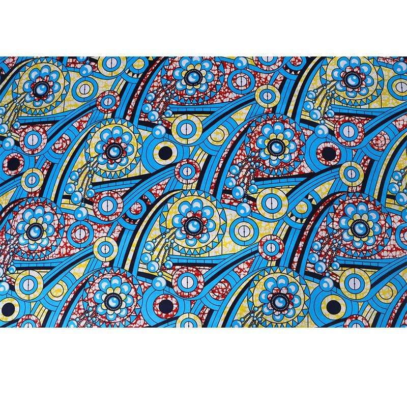 afrilace 100% COTTON GEOMETRIC PRINT AFRICAN PRINT FABRIC(6 Yards)