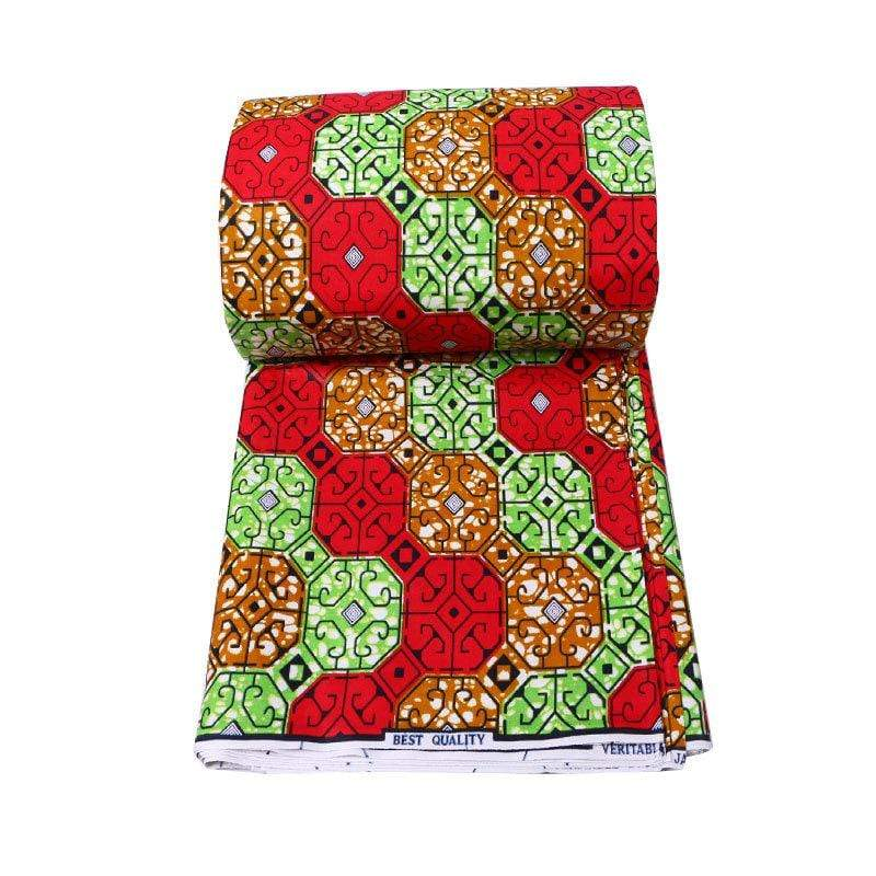afrilace AFRICA ANKARA PRINTED FABRIC BEST QUALITY 100%COTTON AFRICAN PRINT FABRIC(6 Yards)