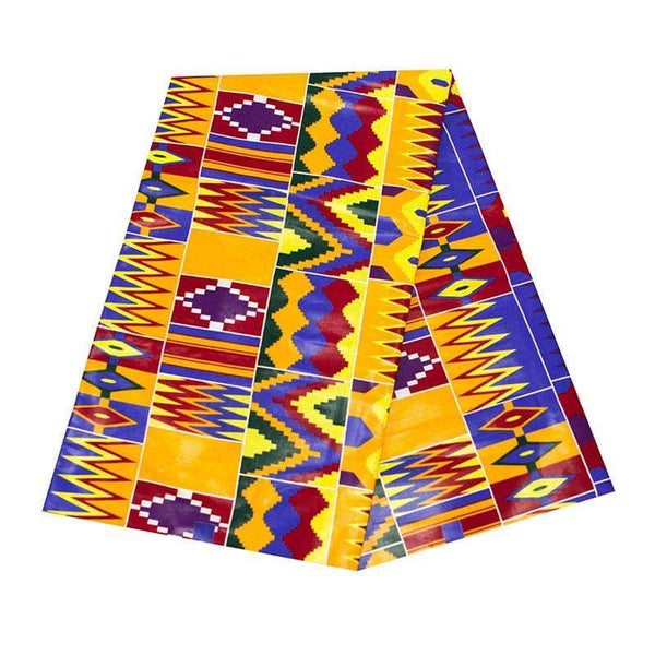 Afrilace AFRICAN COTTON ETHNIC STYLE FABRIC AFRICAN PRINT FABRIC(6 Yards)