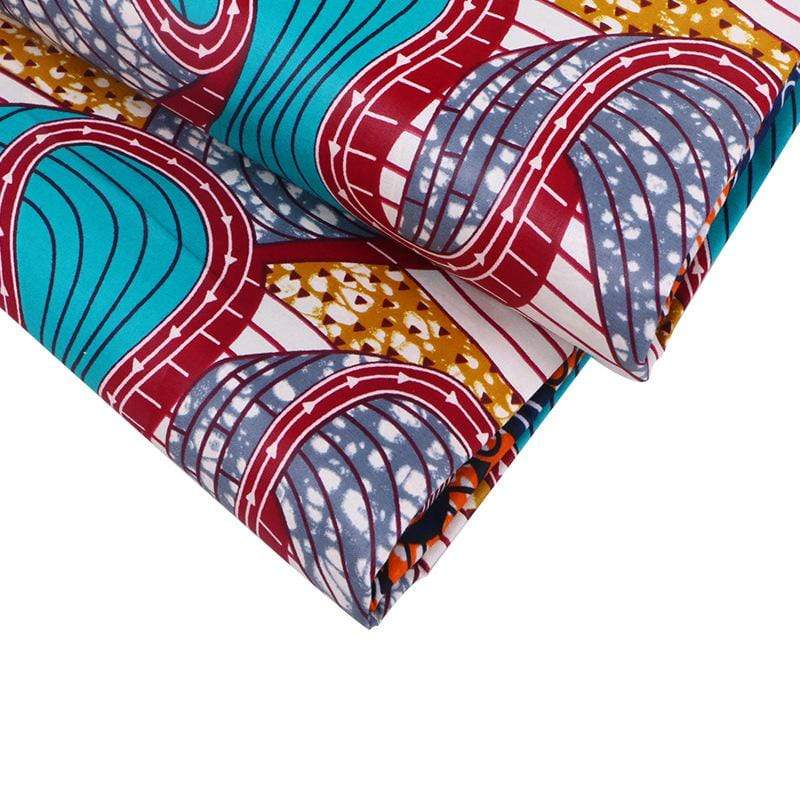 Afrilace AFRICAN COTTON FABRIC ETHNIC STYLE AFRICAN PRINT FABRIC(6 Yards)