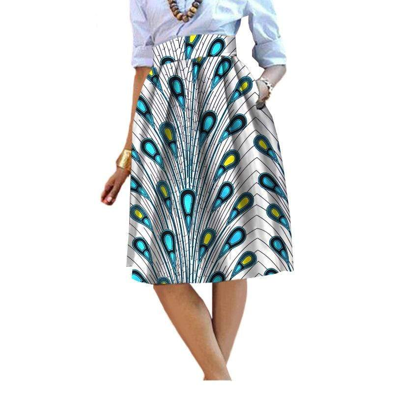 Afrilace AFRICAN COTTON FABRIC ETHNIC STYLE AFRICAN PRINT FABRIC DRESSES
