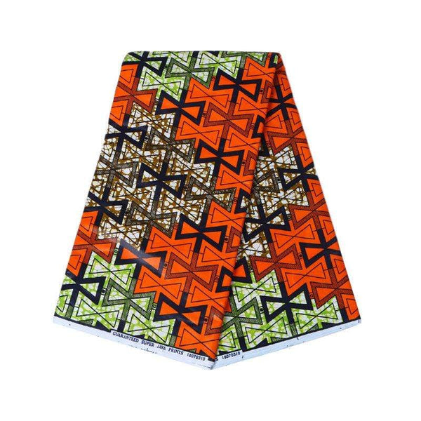Afrilace AFRICAN COTTON PRINT FABRIC ETHNIC STYLE PRINT FABRIC(6 Yards)