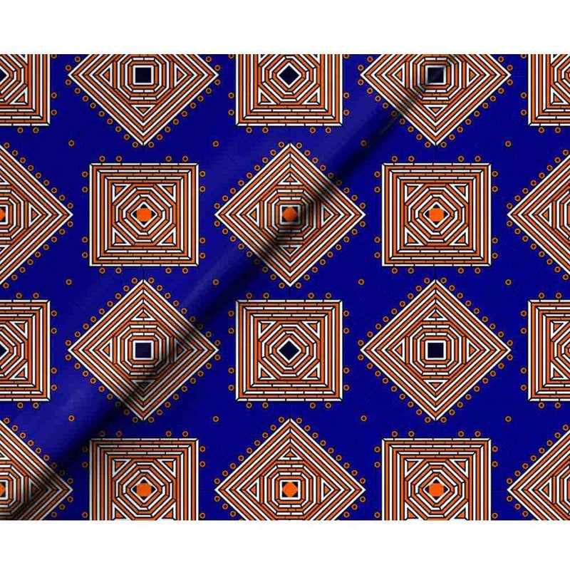 afrilace AFRICAN ETHNIC PRINTED WAX 100% COTTON PRINTED FABRIC(6 Yards)