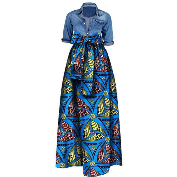 Afrilace AFRICAN FABRIC ETHNIC STYLE  COTTON AFRICAN PRINT FABRIC DRESSES