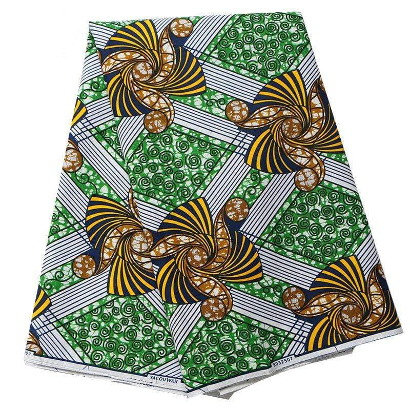 Afrilace AFRICAN FASHION COTTON ETHNIC STYLE FABRIC AFRICAN PRINT FABRIC(6 Yards)