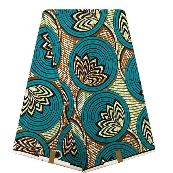 Afrilace African Vlisco Wax Print 100% Cotton Print Fabric for Dresses (6 Yards)