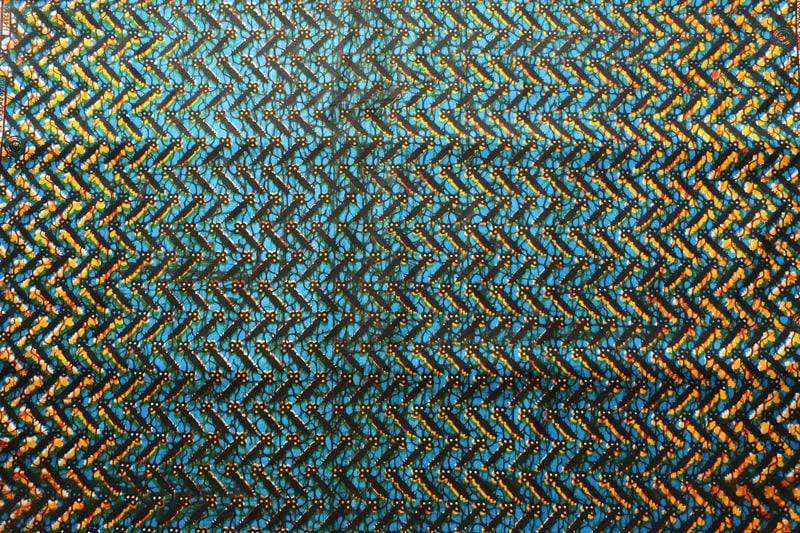afrilace COTTON AFRICAN FABRIC DOUBLE COLOR REAL WAX AFRICAN WAX FABRIC(6 Yards)