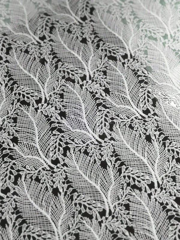 afrilace EMBROIDERY LEAF PATTERN AFRICAN LACE FABRIC(5 Yards)