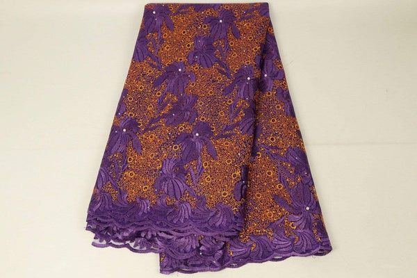 afrilace EMBROIDERY NIGERIAN LACE FABRIC HIGH QUALITY FRENCH LACE 3D FLOWER AFRICA LACE FABRIC(5 Yards)