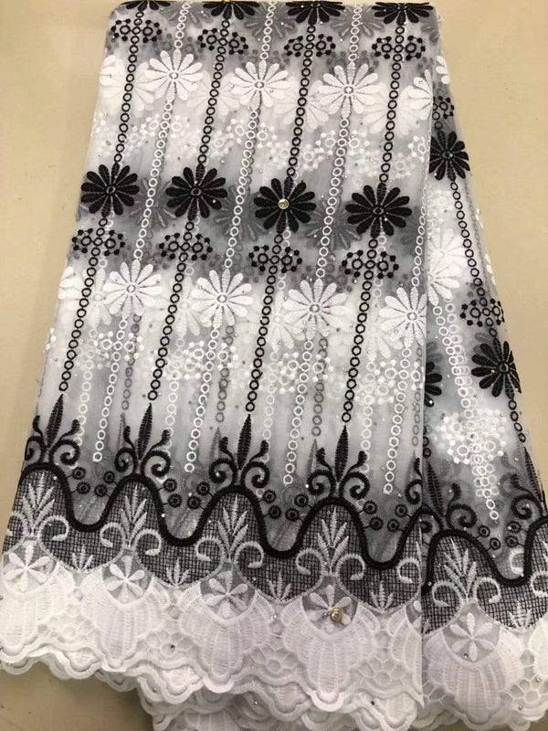 afrilace NEW FRENCH SILK NET LACE FABRIC HIGH QUALITY AFRICAN TULLE LACE FABRIC WITH RHINESTONE FOR NIGERIAN WEDDING(5 Yards)