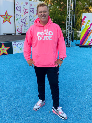 LIMITED EDITION NEON PINK FOOD DUDE HOODIE