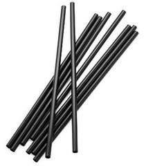"7 3/4"" Plastic Straw Black"