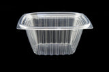 Dart C16DCPR 16 oz. Clear Rectangular Plastic Container with Lid
