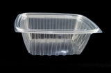 DART CH32DEF 32 oz. Clear Rectangular Plastic Container with Lid