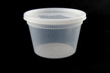 Newspring/Pactiv O'Smile 16 oz. Soup Container Combo w/Lid