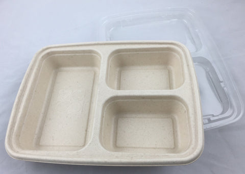 Eccocane Eb333 36oz 3 Compartment Sugarcane Bagasse