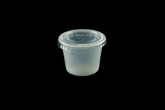 Dart Solo 100PC 1oz. Translucent Polystyrene Souffle / Portion Cup