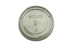 Dart Solo 626TS Clear Flat Straw Slot Lid for Plastic Cold Cups
