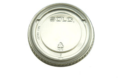 Dart Solo 662TS Clear Flat Straw Slot Lid for Plastic Cold Cups